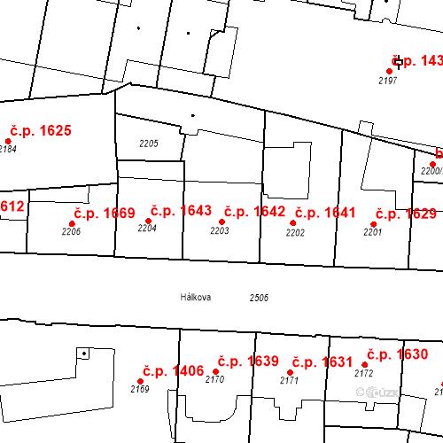 Katastrální mapa Stavební objekt Nové Město 1642, Praha