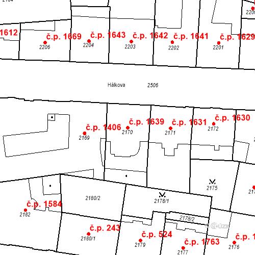 Katastrální mapa Stavební objekt Nové Město 1639, Praha