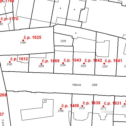 Katastrální mapa Stavební objekt Nové Město 1643, Praha