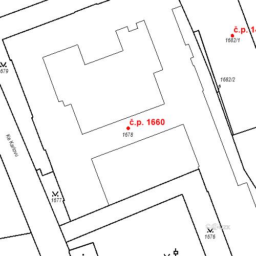 Katastrální mapa Stavební objekt Nové Město 1660, Praha