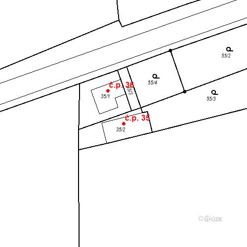 Katastrální mapa Stavební objekt Dalešice 35, Neveklov