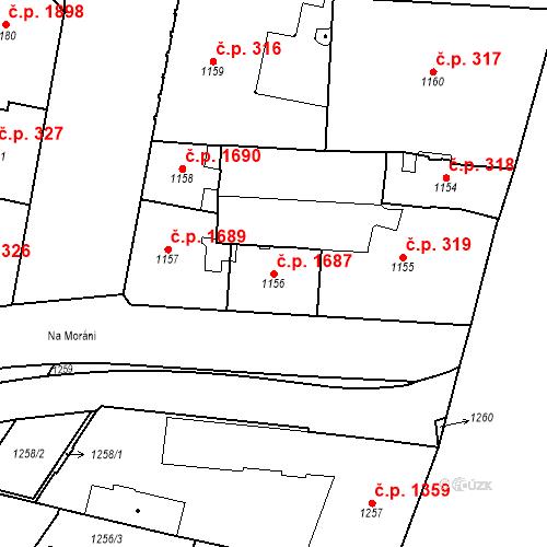 Katastrální mapa Stavební objekt Nové Město 1687, Praha