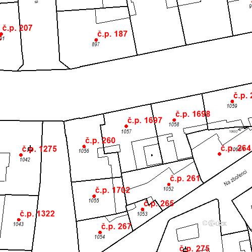 Katastrální mapa Stavební objekt Nové Město 1697, Praha