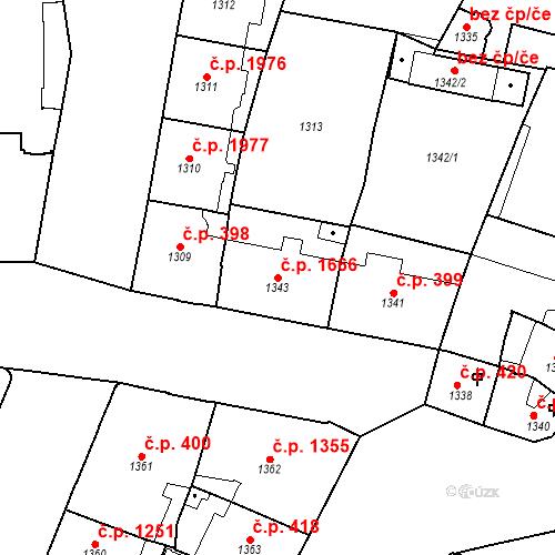 Katastrální mapa Stavební objekt Nové Město 1666, Praha