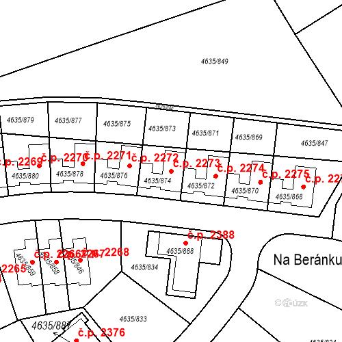 Katastrální mapa Stavební objekt Modřany 2273, Praha