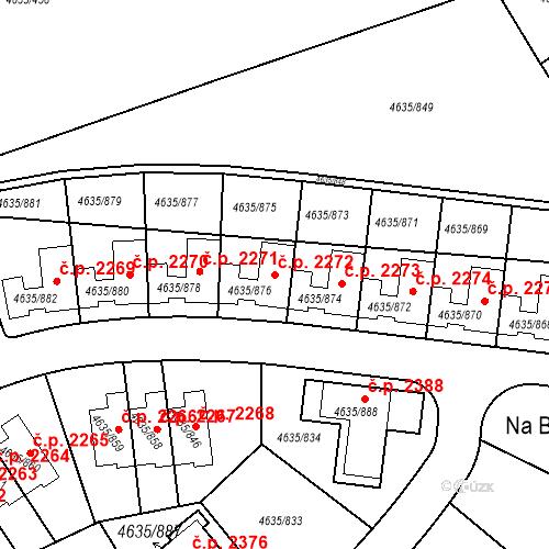 Katastrální mapa Stavební objekt Modřany 2272, Praha