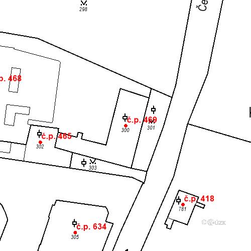 Katastrální mapa Stavební objekt Malá Strana 469, Praha