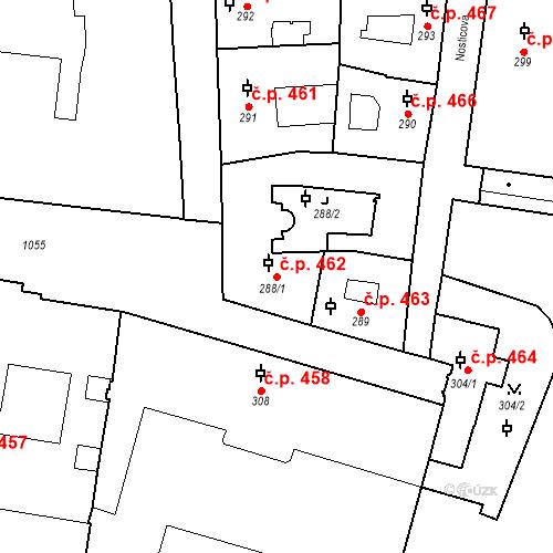 Katastrální mapa Stavební objekt Malá Strana 462, Praha