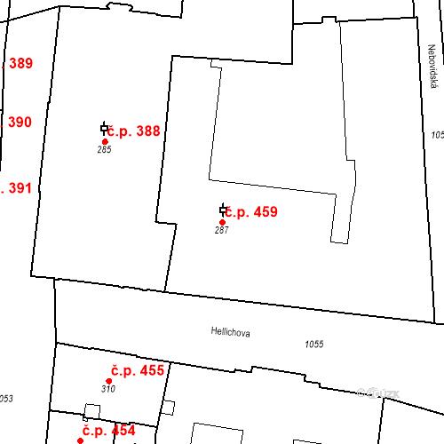 Katastrální mapa Stavební objekt Malá Strana 459, Praha