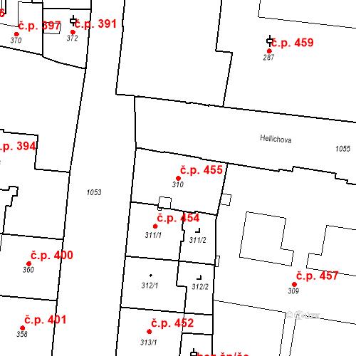 Katastrální mapa Stavební objekt Malá Strana 455, Praha