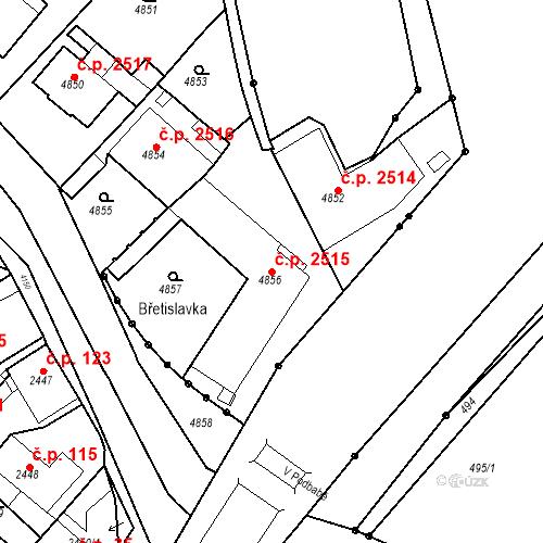 Katastrální mapa Stavební objekt Dejvice 2515, Praha