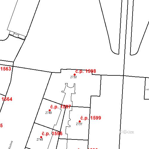 Katastrální mapa Stavební objekt Dejvice 1598, Praha