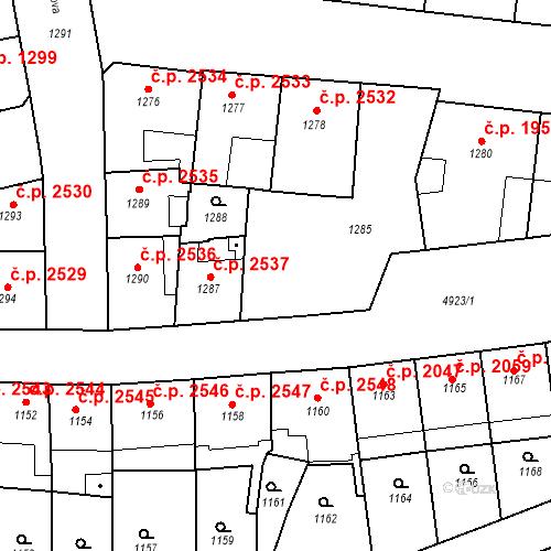 Katastrální mapa Stavební objekt Smíchov 2538, Praha