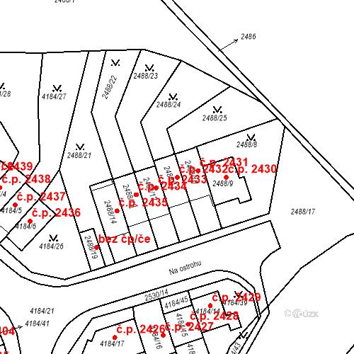 Katastrální mapa Stavební objekt Dejvice 2432, Praha