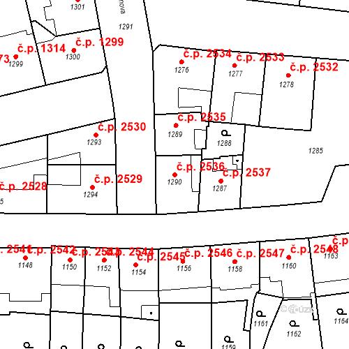 Katastrální mapa Stavební objekt Smíchov 2536, Praha