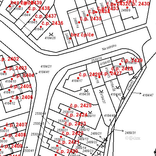 Katastrální mapa Stavební objekt Dejvice 2426, Praha