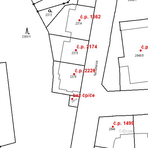 Katastrální mapa Stavební objekt Smíchov 2226, Praha