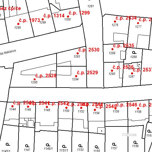Katastrální mapa Stavební objekt Smíchov 2529, Praha