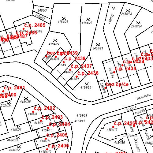Katastrální mapa Stavební objekt Dejvice 2436, Praha