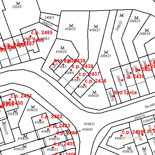 Katastrální mapa Stavební objekt Dejvice 2437, Praha