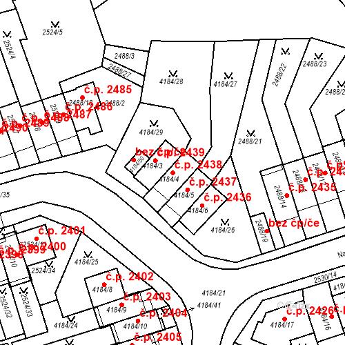 Katastrální mapa Stavební objekt Dejvice 2438, Praha