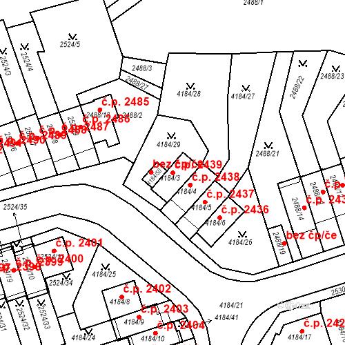 Katastrální mapa Stavební objekt Dejvice 2439, Praha