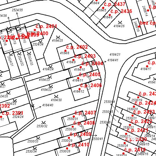 Katastrální mapa Stavební objekt Dejvice 2405, Praha