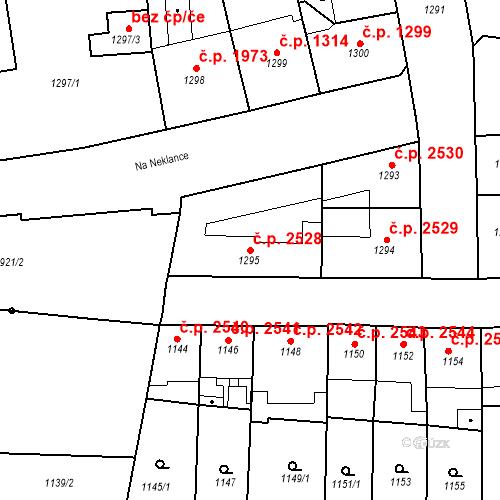 Katastrální mapa Stavební objekt Smíchov 2528, Praha