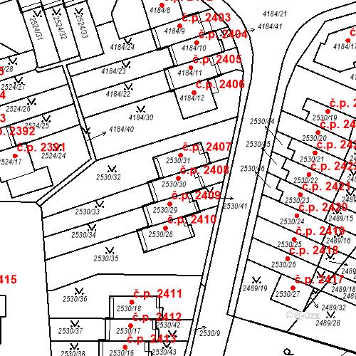 Katastrální mapa Stavební objekt Dejvice 2408, Praha