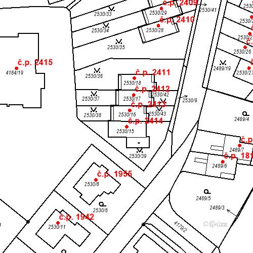 Katastrální mapa Stavební objekt Dejvice 2414, Praha