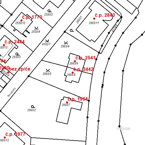 Katastrální mapa Stavební objekt Dejvice 2442, Praha