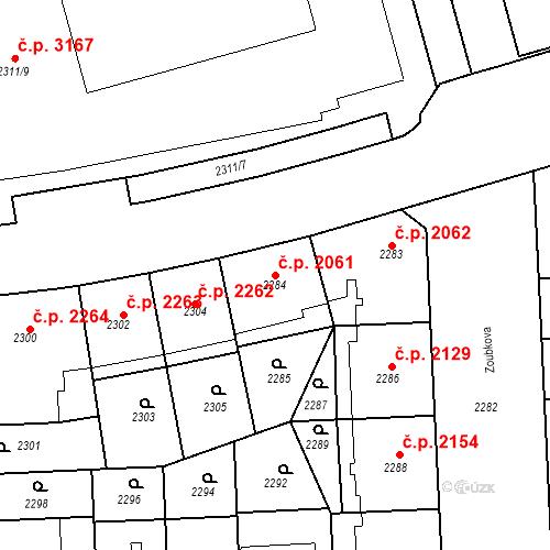 Katastrální mapa Stavební objekt Smíchov 2061, Praha