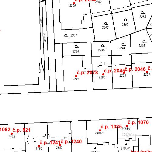 Katastrální mapa Stavební objekt Smíchov 2078, Praha