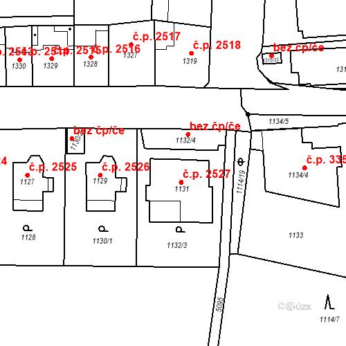 Katastrální mapa Stavební objekt Smíchov 2527, Praha