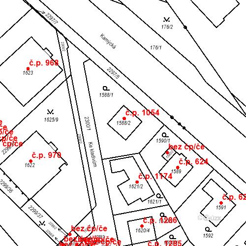 Katastrální mapa Stavební objekt Suchdol 1054, Praha