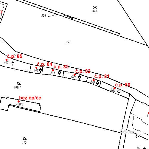 Katastrální mapa Stavební objekt Hradčany 82, Praha