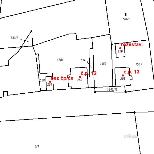 Katastrální mapa Stavební objekt Pohoří na Šumavě 12, Pohorská Ves