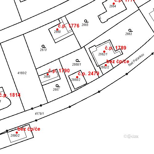 Katastrální mapa Stavební objekt Dejvice 2479, Praha