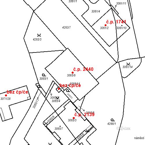 Katastrální mapa Stavební objekt Dejvice 2440, Praha