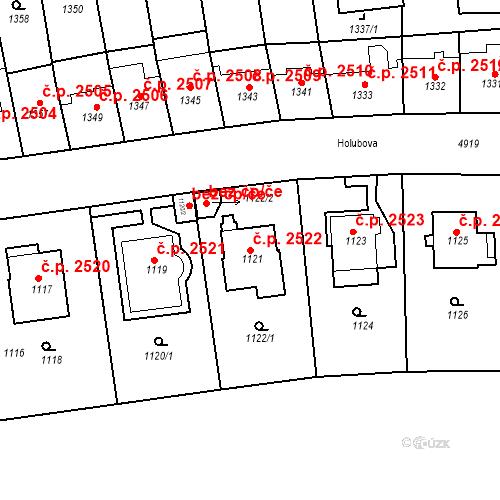 Katastrální mapa Stavební objekt Smíchov 2522, Praha