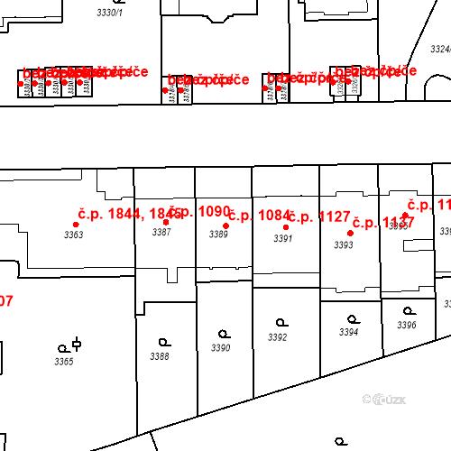 Katastrální mapa Stavební objekt Smíchov 1084, Praha