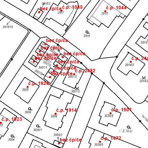 Katastrální mapa Stavební objekt Dejvice 2482, Praha