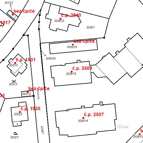 Katastrální mapa Stavební objekt Dejvice 2508, Praha