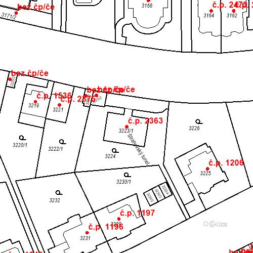 Katastrální mapa Stavební objekt Smíchov 2363, Praha
