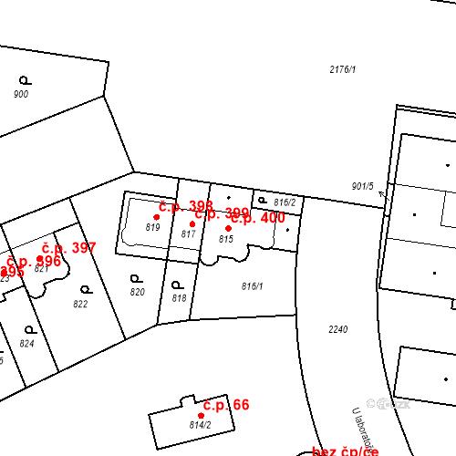 Katastrální mapa Stavební objekt Střešovice 400, Praha