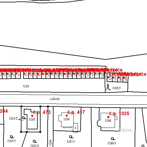 Katastrální mapa Stavební objekt Děčín II-Nové Město 380, Děčín