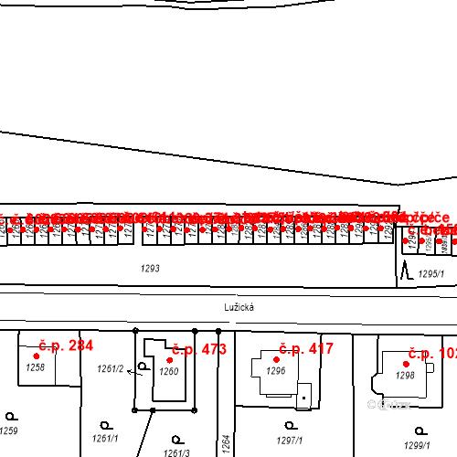 Katastrální mapa Stavební objekt Děčín II-Nové Město 375, Děčín