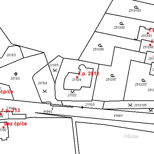 Katastrální mapa Stavební objekt Dejvice 2512, Praha