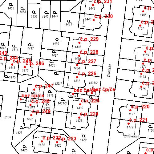 Katastrální mapa Stavební objekt Střešovice 226, Praha