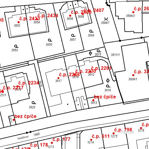 Katastrální mapa Stavební objekt Smíchov 2230, Praha